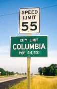 Columbia city limits